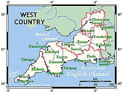 Westcountrymap