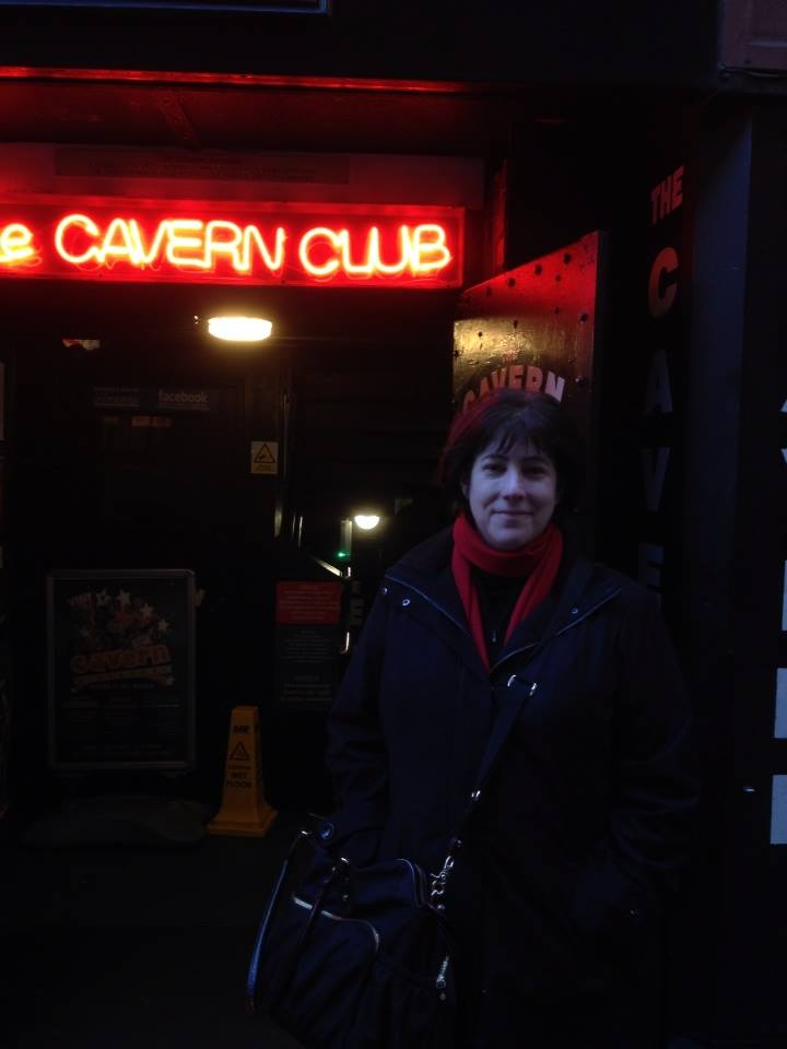 Andrea at Cavern entrance